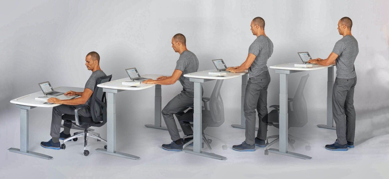 staff wellbing - designing movement, stand sit or walk